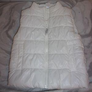 Carter's Sz 2t White Puffer Vest